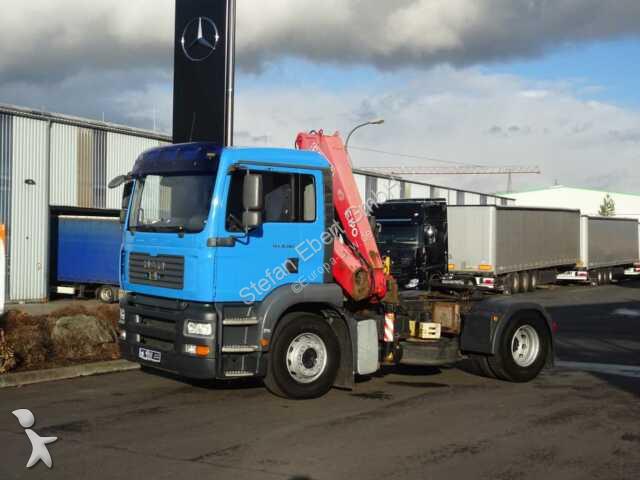 Tracteur MAN TGA 18.360 4x2 BLS + Kran Fassi F190 + Funk