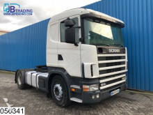 тягач Scania 124 420 Manual, Retarder, Airco, Hydraulic, Analoge tachograaf