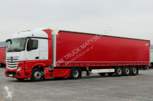 ensemble routier Mercedes ACTROS 1845 / EURO 5 + WIELTON / CURTAINSIDER /