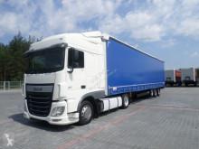 zestaw drogowy DAF - 106 460 * EURO 6 AUTOMAT LOW DECK MEGA 2016 + SCHMITZ MEGA OS + semi-remorque rideaux coulissants