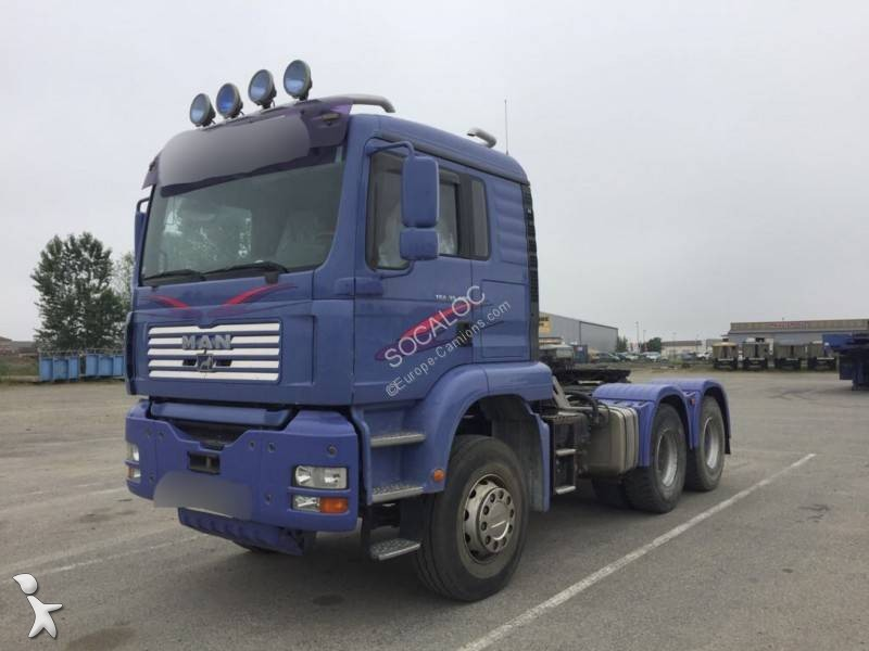 tracteur man convoi exceptionnel 33 480 6x4 gazoil euro 3