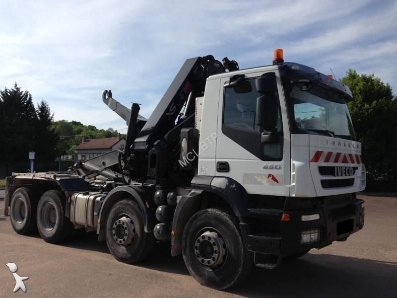 Tweedehands kraan met kipper iveco dalby trakker ad 340 t for Vrachtwagen kipper met kraan