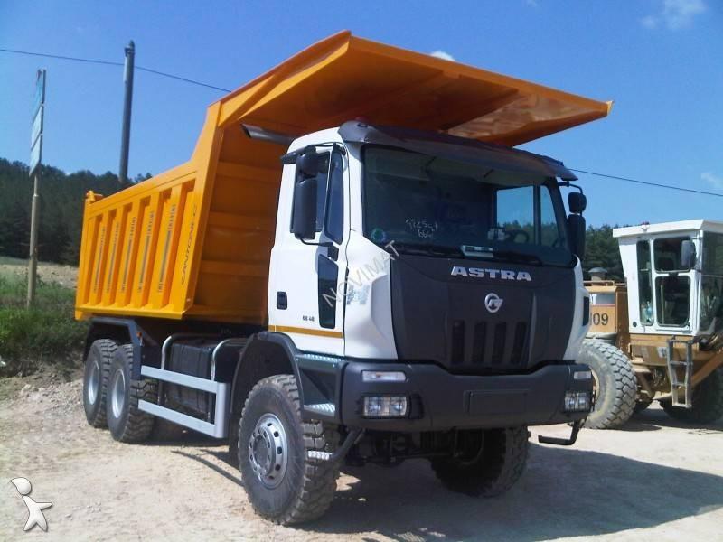camion astra benne enrochement hhd9 6x6 gazoil euro 3 neuf