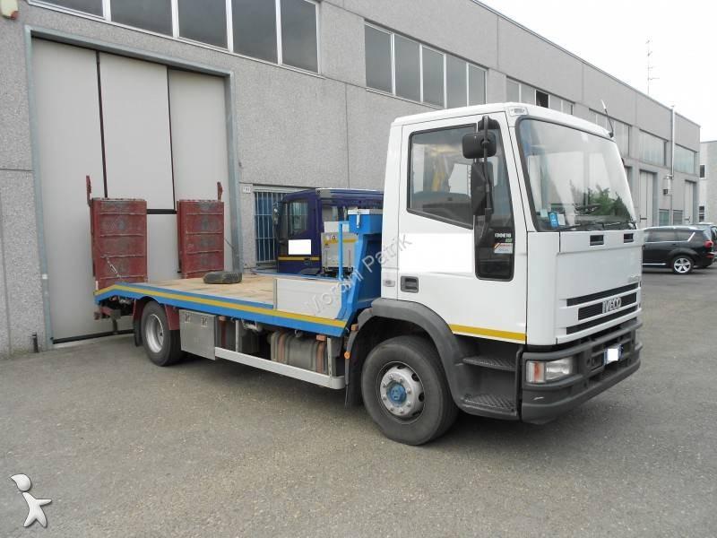 camion porte engins occasion iveco eurocargo 130e18 gazoil annonce n 1040231. Black Bedroom Furniture Sets. Home Design Ideas