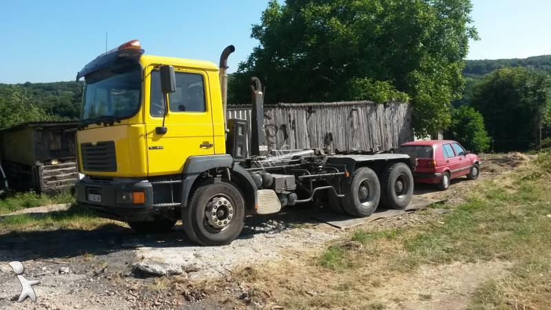 camion man multibenne ampliroll 6x4 gazoil euro 2 occasion n 1202524. Black Bedroom Furniture Sets. Home Design Ideas