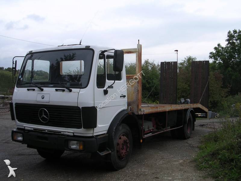 camion porte engins occasion mercedes 1417 gazoil annonce n 1438561. Black Bedroom Furniture Sets. Home Design Ideas