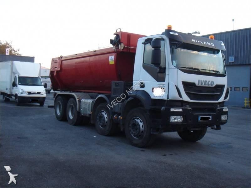 camion iveco benne trakker 340 t 41 8x4 gazoil euro 6 occasion n 1474900. Black Bedroom Furniture Sets. Home Design Ideas