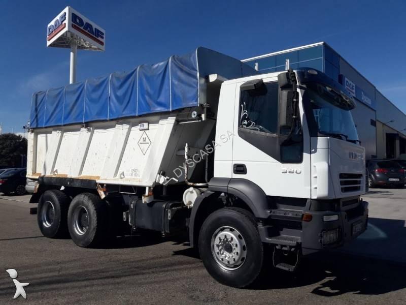 camion iveco benne trakker 380 6x4 gazoil euro 3 occasion n 1485756. Black Bedroom Furniture Sets. Home Design Ideas