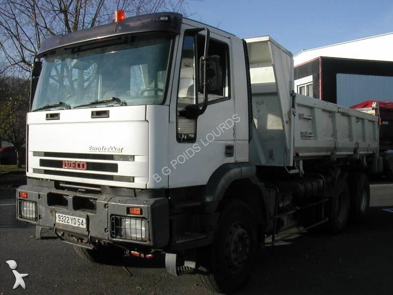 camion iveco bi benne eurotrakker 260e34 6x4 euro 2 occasion n 1493145. Black Bedroom Furniture Sets. Home Design Ideas