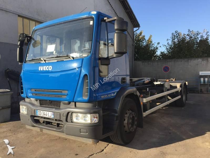 Tweedehands kraan met kipper iveco hyva eurocargo 190e30 for Vrachtwagen kipper met kraan