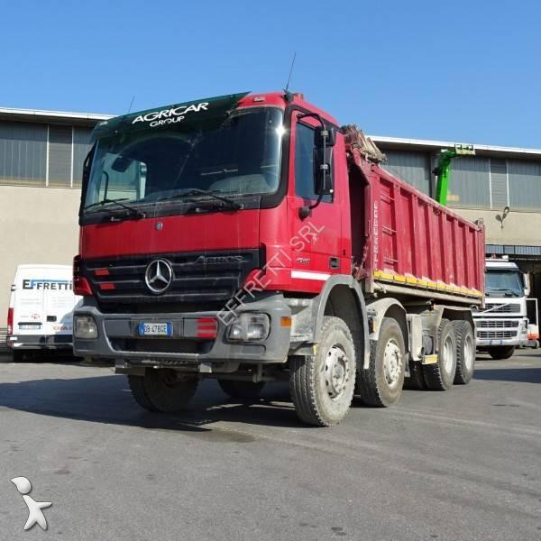 Camion mercedes ribaltabile trilaterale actros 4146 8x4 for Effretti usato