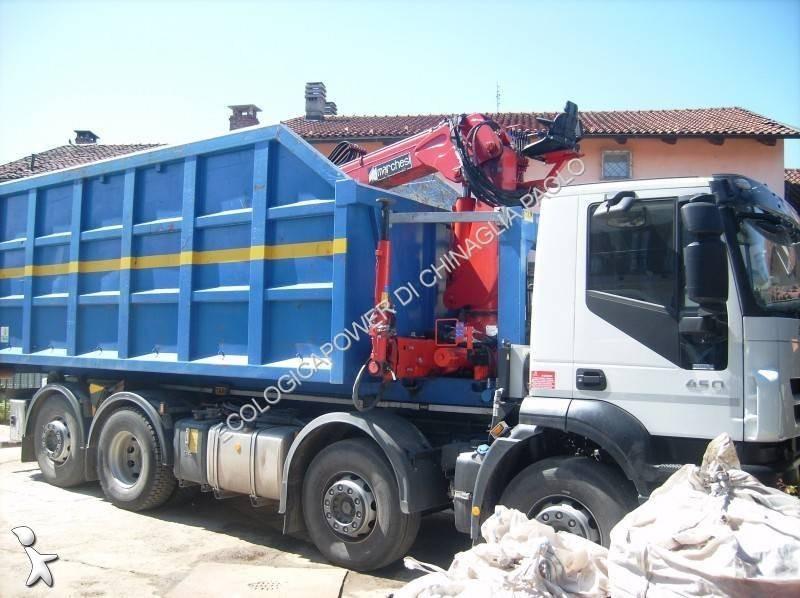 Tweedehands kraan met kipper iveco 8x2 diesel euro 5 n for Vrachtwagen kipper met kraan