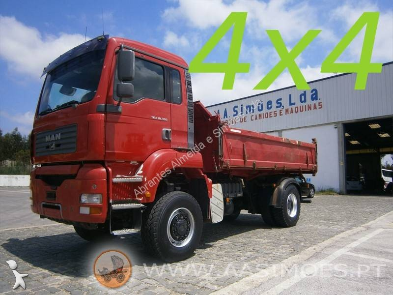 camion man benne meiller tga 18 360 4x4 euro 3 occasion