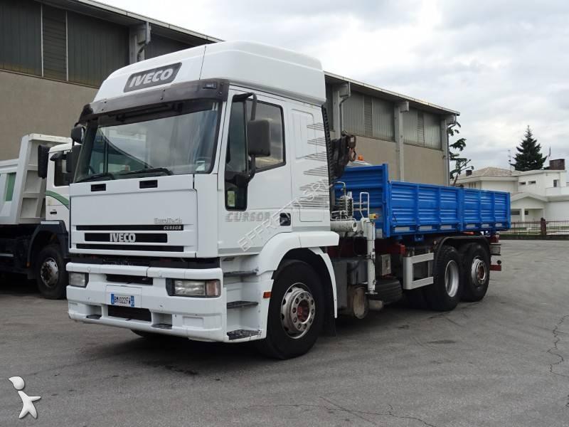 Camion iveco ribaltabile trilaterale cursor 440 e 43 6x2 for Effretti usato