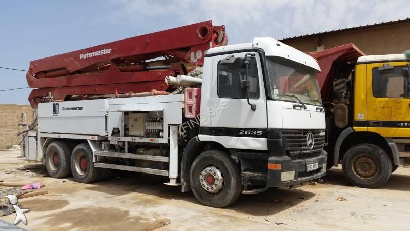 camion mercedes pompe b ton 2635k 6x4 euro 3 occasion. Black Bedroom Furniture Sets. Home Design Ideas