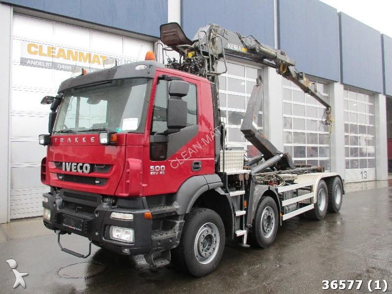 camion iveco polybenne trakker ad410t500 euro 5 eev kesla 20 ton meter 8x4 gazoil euro 5 grue. Black Bedroom Furniture Sets. Home Design Ideas