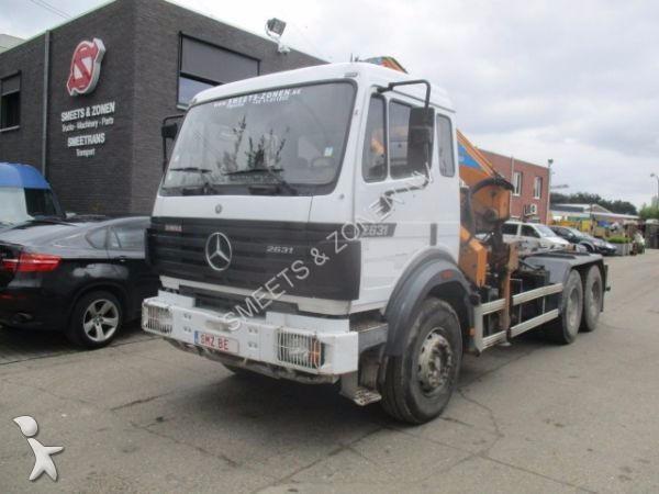 Camion mercedes porte containers 2631 6x4 gazoil grue - Camion porte container avec grue occasion ...