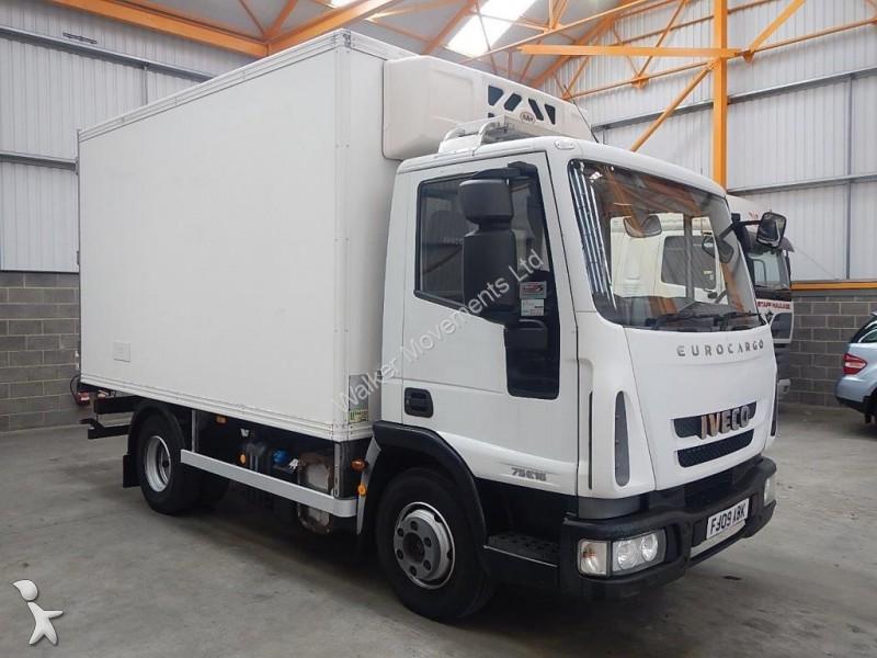 camion iveco frigo eurocargo 75e16 4 x 2 7 5 tonne fridge freezer 2009 fj09 abk 4x2 occasion. Black Bedroom Furniture Sets. Home Design Ideas