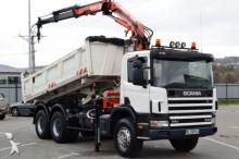 ciężarówka Scania 114 340 * Kipper 5,20 m + KRAN * 6x4 Top Zustand