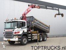 camion Scania P420 6x6 CRANE TIPPER / MANUAL SPRING