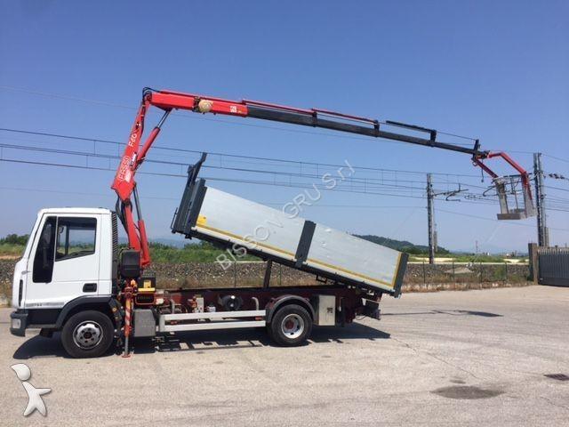 camion iveco benne eurocargo 75e17 gazoil euro 3 grue. Black Bedroom Furniture Sets. Home Design Ideas