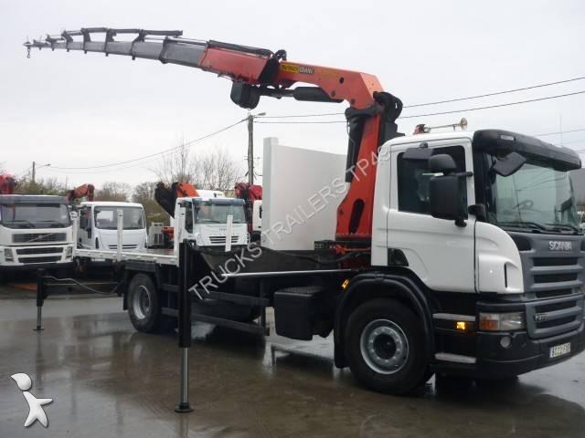 camion scania plateau p 270 4x2 gazoil euro 4 grue. Black Bedroom Furniture Sets. Home Design Ideas