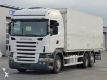 camión caja abierta transporte de bebidas Scania