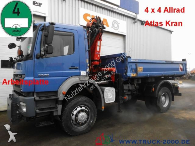 camion mercedes benne 1828 4x4 3 s kran atlas 85 2 arbeitsplatte 4x4 gazoil euro 4 occasion. Black Bedroom Furniture Sets. Home Design Ideas