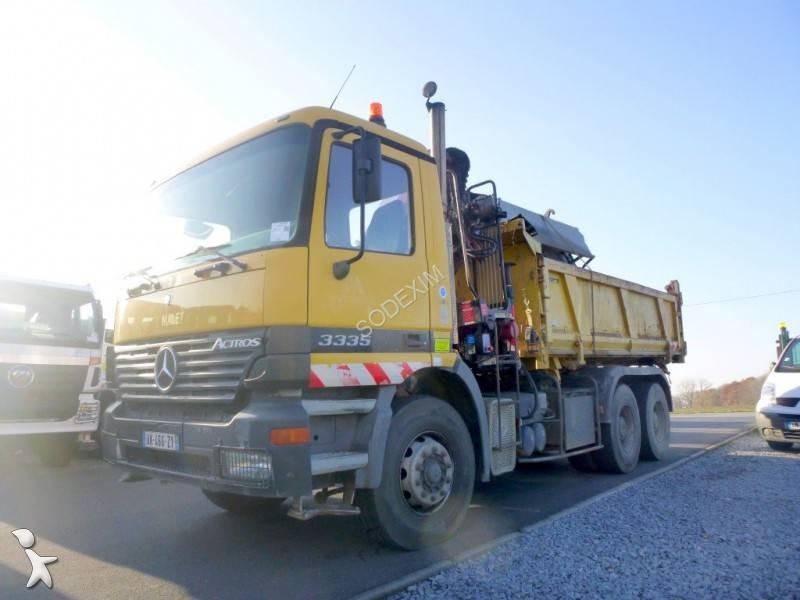 Camion mercedes ribaltabili actros 6x4 francia camion usati for Rimorchi ribaltabili trilaterali usati