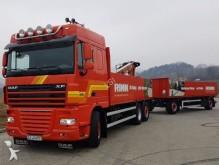 camión DAF XF 105.460 Pritsche 6,50 m + KRAN + Anhänger!