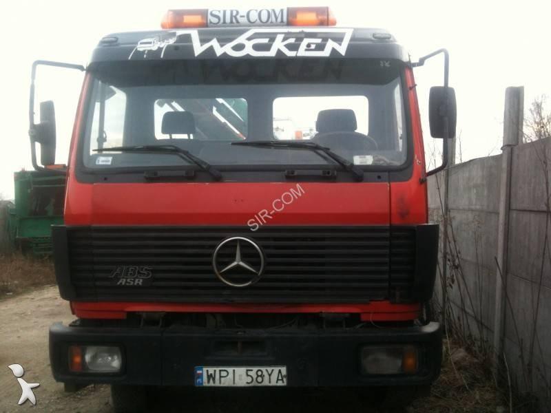 camion mercedes polybenne euro 0 grue occasion n 1974981. Black Bedroom Furniture Sets. Home Design Ideas