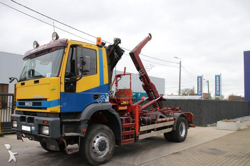 Camion iveco porte containers eurotrakker 190e30 4x4 4x4 - Camion porte container avec grue occasion ...