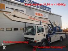 camión DAF AE45 Klaas Montage Dachdecker Kran 31,50m 1000KG