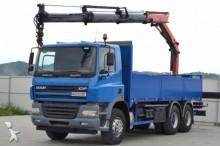 camión DAF CF 85.380 Pritsche 6,50 m + KRAN / 6x4!