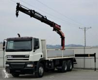 camión DAF CF 85.380 Pritsche 6,60 m + KRAN / 6x4!