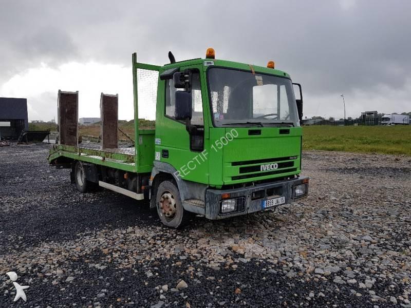 camion porte engins occasion iveco tector 100e18 gazoil annonce n 2033422. Black Bedroom Furniture Sets. Home Design Ideas