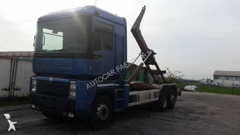camion renault polybenne magnum 390 4x2 euro 2 occasion n 2042631. Black Bedroom Furniture Sets. Home Design Ideas