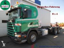 camión Scania 114 G 380 6x4 Deutscher LKW 1.Hand Blattfederung