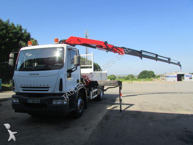 Tweedehands kraan met kipper iveco eurocargo 160e21 4x2 for Vrachtwagen kipper met kraan