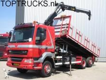 camion DAF LF 55.280 6x2 EURO 5 KIPPER + KRAAN