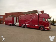 camión Scania R520 + Jumbo 4 Deks Combinatie dwars geventileer
