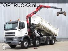 camión DAF CF 85.410 E5 8x4 PALFINGER EPSILON CRANE + TIPPE