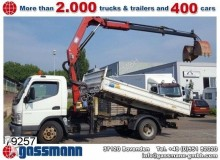 camion Mitsubishi Canter FE85 4x2 Kipper Kran HMF 735K2 Klima/NSW