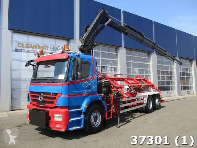 Camion mercedes porte containers axor 2533 6x2 gazoil euro - Camion porte container avec grue occasion ...