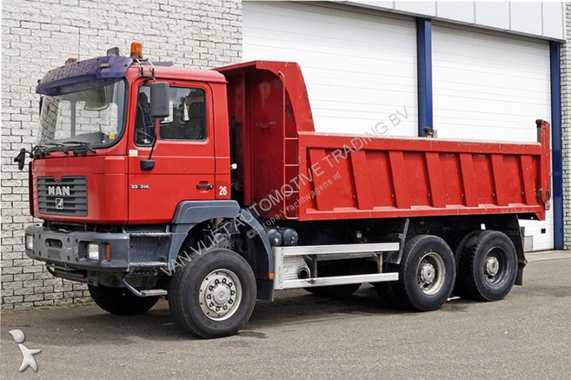 camion man benne 6x6 gazoil occasion n 2128441. Black Bedroom Furniture Sets. Home Design Ideas
