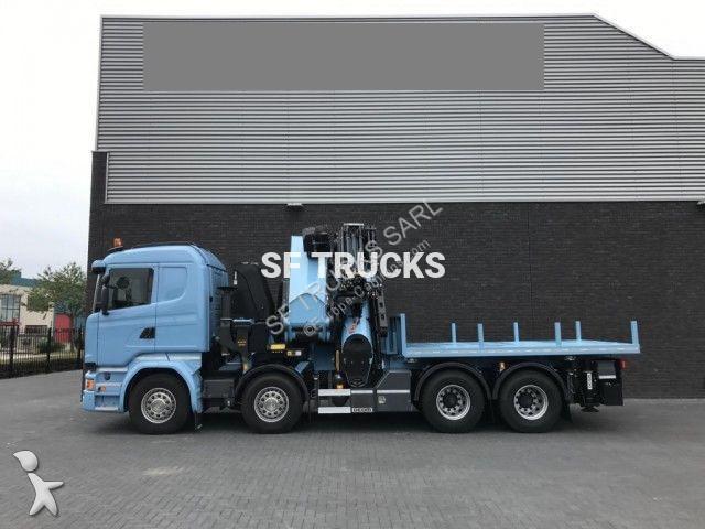 camion scania plateau standard r 490 8x4 gazoil euro 6 grue occasion n 2251659. Black Bedroom Furniture Sets. Home Design Ideas