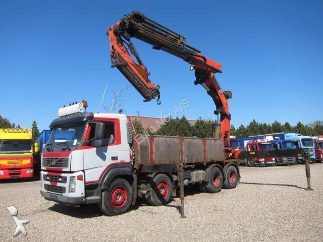 Lastbil Volvo flatbed FM12/420 8x4 Kran Palfinger PK60002 Flyjib 2008 8x4 Diesel kran brugt - nr ...