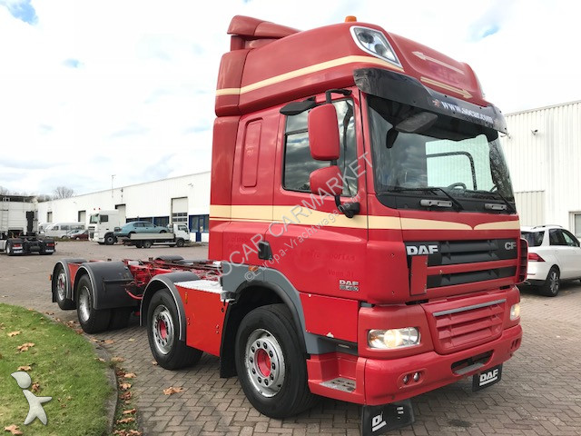used daf cf85 chassis truck 8x2 diesel euro 5 n 2291128. Black Bedroom Furniture Sets. Home Design Ideas