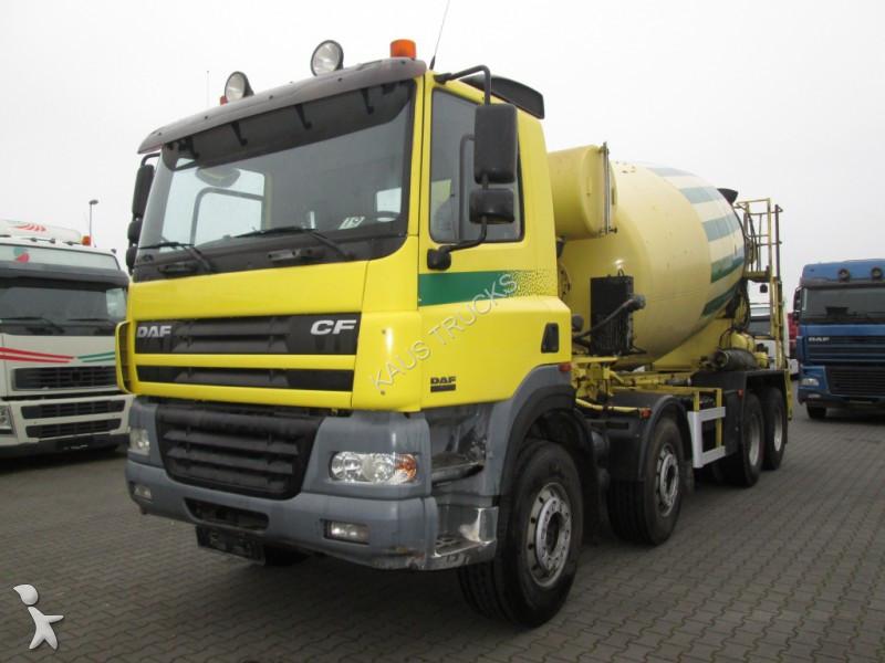 used daf cf85 concrete mixer truck 8x4 diesel euro 3 n 2300456. Black Bedroom Furniture Sets. Home Design Ideas