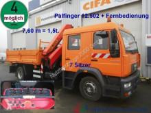 MAN LE 14.220 7 Sitzer DOKA Kipper Kran PK 12502 FB truck